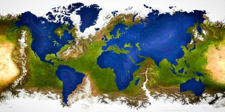 عوض شدن جای خشکی ها و آب های روی کره زمین